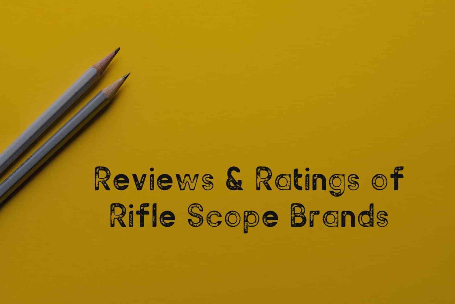 rifle scope brands